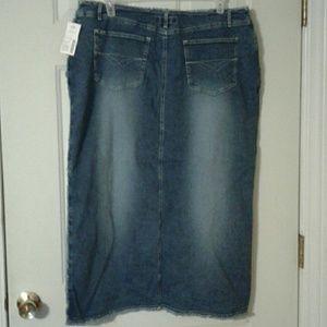 3ab1684e5a2 Revolt Jeans Skirts - Revolt Plus Size Stretch Denim Long Skirt